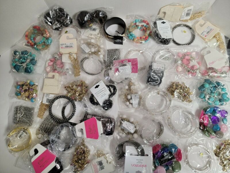 Brand Name Trendy Wholesale Fashion Jewelry Bracelets for ReSale LOT of 50!