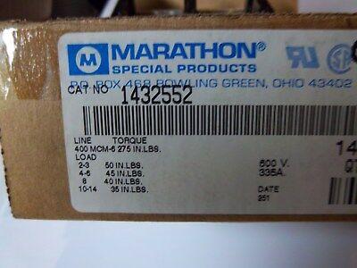 Marathon 1432552 Power Distribution Block 380a 600v2 Poles
