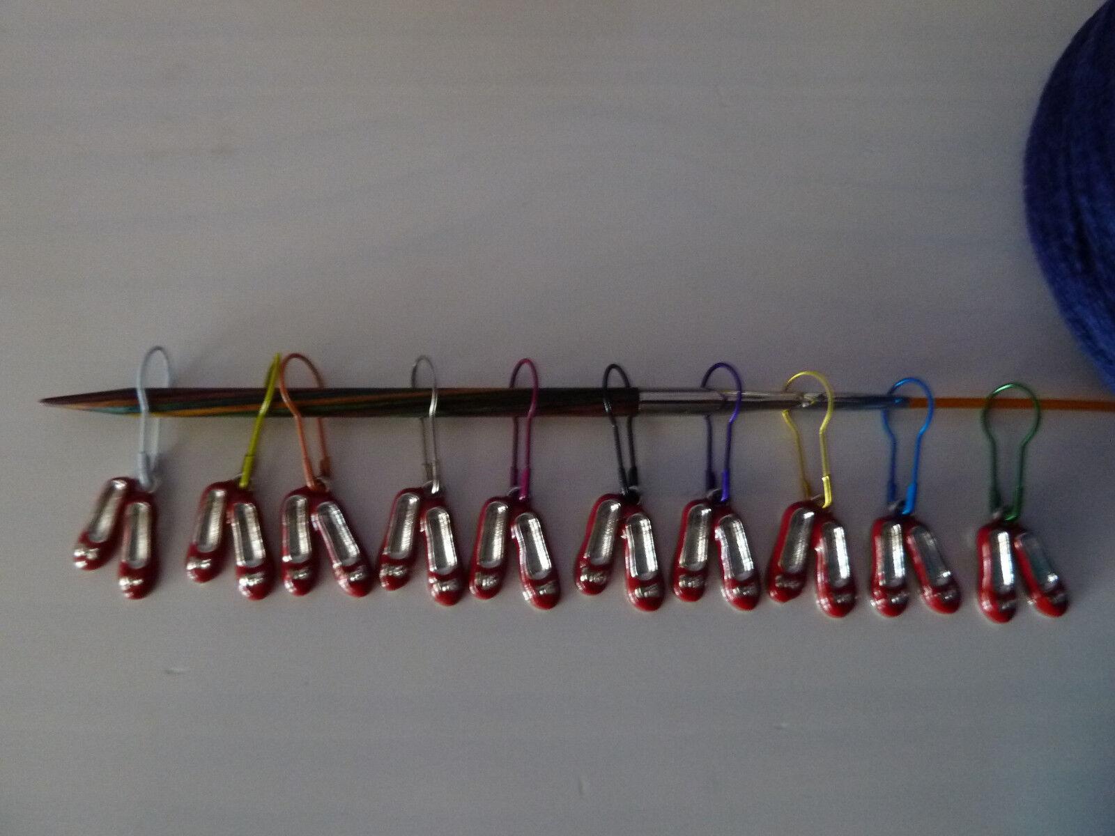 Maschenmarkierer, Strickzubehör (Schuhe) - Handarbeit