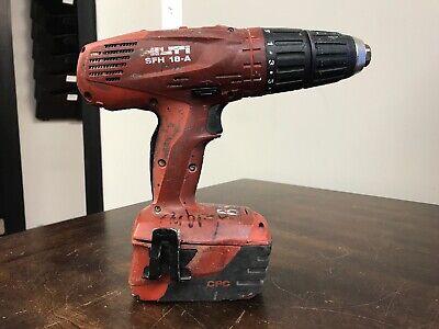 Hilti Sfh 18-a 18v 12 Cordless Hammer Drill W 3.3ah Batt - Used --- Cv565