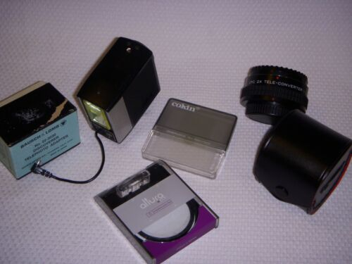 Lot of Vintage Camera Parts and Accessories (See Description)