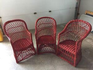 Antique Wicker Chairs - children's size