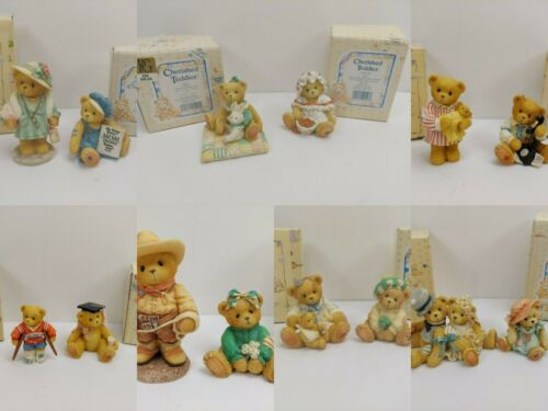 Lot of 14 Vintage Cherished Teddies Enesco Teddy Bear Figurines with Boxes