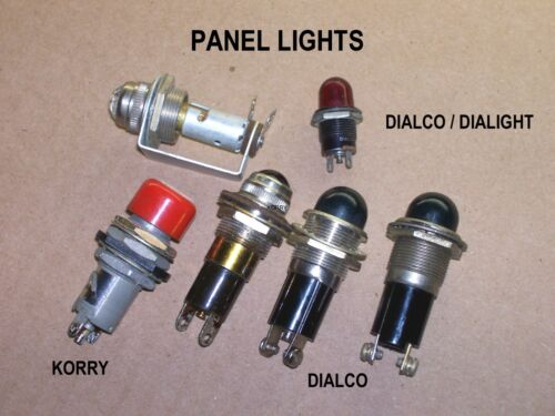 Dialco Korry Six Various Panel Mount Lamps Dash Board Stewart Warner Hot Rod