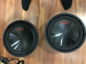 """Two 12"""" type R's 750 watts"""