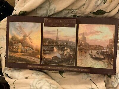 Thomas Kinkade Painter of Light Deluxe Jigsaw Puzzle 3pc. Set 500 pieces each