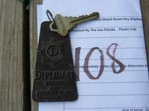 Vintage Casino Hotel Motel Room Key Diplomat Resort And Country Clubs Florida