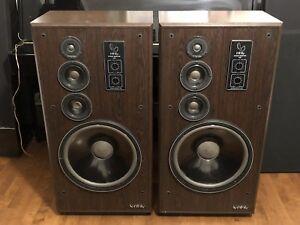 "Rare Infinity SM-150 15"" 3 way speakers. Recent service GUC!"