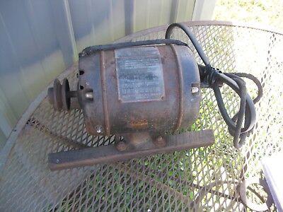 Vintage M Wards Powr Kraft Capacitor Motor 13 Hp Model 5693 9846 110volt
