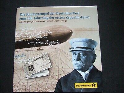 2 medaillen zeppelin silber im blister mit briefmarken 100 j. erstflug online kaufen