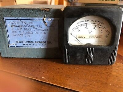 Nos Vintage Simpson Electric Meter Photo-electric Control Steampunk
