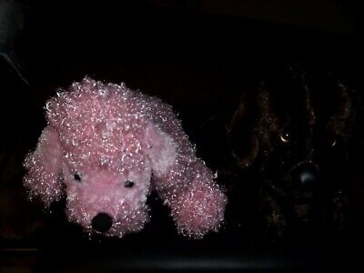 - CHOCOLATE LAB & FUZZY PINK POODLE PUPPIES GANZ