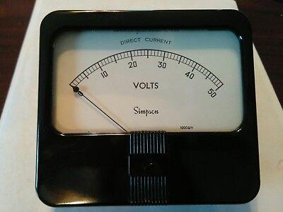 Model 29 Cat7700 Simpson Analog Panel Meter