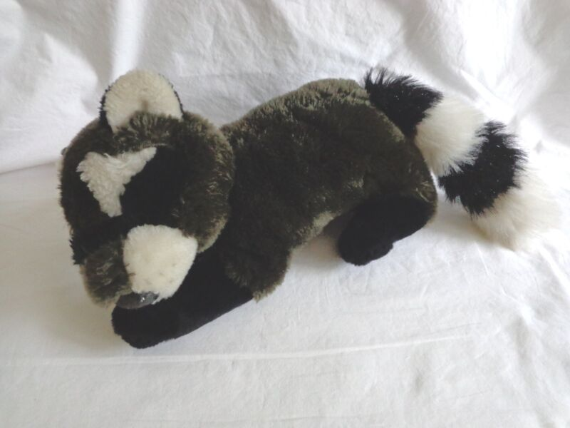"Brown Raccoon Plush 12"" Stuffed Animal Toy Mike Dog"