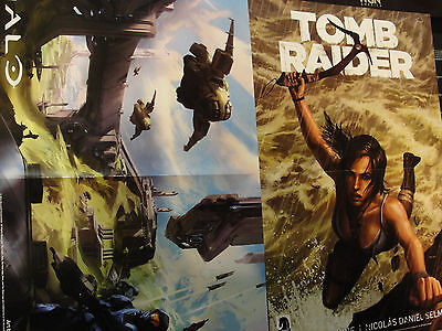 Halo/Tombraider  Poster Double Sided 11 x17