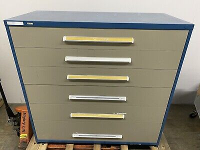 Stanley Vidmar Cabinet 6 Drawer Dividers 5ft Wide X 59 Height X 27 12 Depth
