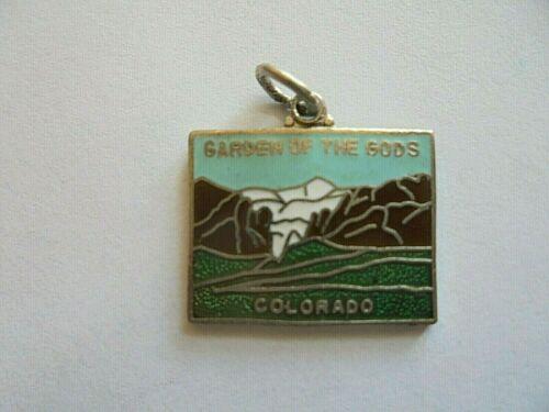 Vintage Colorado Garden of the Gods Enamel Souvenir Charm