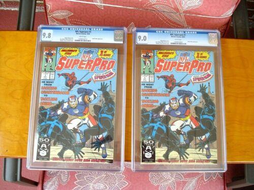 2 copies of NFL SuperPro #1 CGC 9.8 NM/MT & 9.0 VF/NM