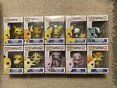 Pokemon Funko Pop Lot 10 Mewtwo, Mew, Pikachu, Etc. ALL MINT UNOPENED IN CASES!