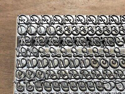 Antique Vtg 14pt Atf Fancy Liberty Letterpress Print Type A-z Letter Caps Set