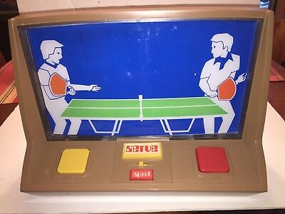Ideal Electronic Table Tennis Game 1974 Original Box, Inserts PONG  Parts-Repair