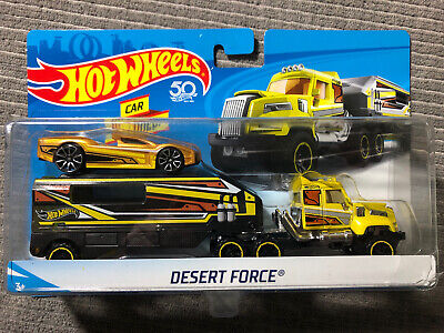 HOT WHEELS DESERT FORCE VEHICLE CAR INCLUDED-NEW-FACTORY SEALED 50th Anniv.