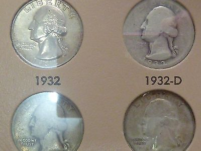 Click now to see the BUY IT NOW Price! WASHINGTON QUARTERS COMPLETE 1932   1974 P D S  OVER 50 COINS UNCIRCULATED