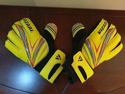 fdcf67802 Vizari Soccer Goal Keeper Goalie Gloves Rimo F.R.F Sz 6 Yellow Black 800746  FRF