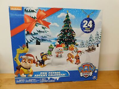 Paw Patrol Advent Calendar with 24 Collectible Plastic Figures-NEW