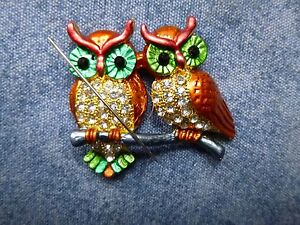 Special Two Owl Needle Minder Cross Stitch Neodymium TWO Magnets