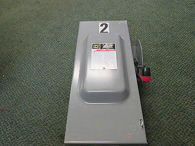 Square D Non-fusible Safety Switchdisconnect Hu363 100a 600v Used