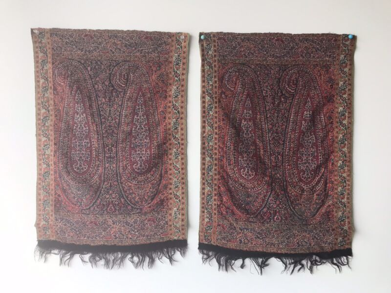 A Garment Of Royalty Antique Textile Hand Woven From Silk & Wool Termed For Shah