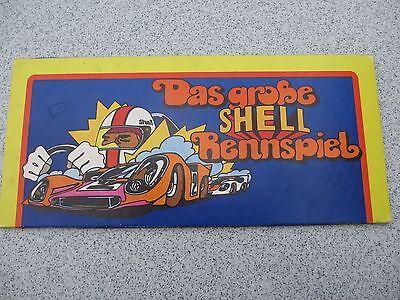 Das große Shell Rennspiel 16 Auto Medaillen Rarität sehr selten Autoliebhaber