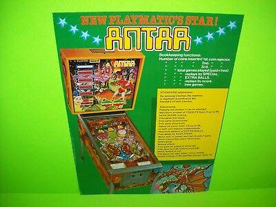 Playmatic ANTAR Original Spanish Flipper Arcade Game Pinball Machine Flyer Rare