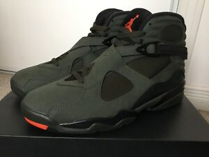 DS Air Jordan VIII 8 Take Flight Undefeated Olive Green- sz 9.5