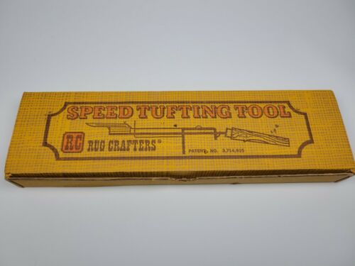 Vintage Rug Crafters RC Speed Tufting Tool w/ Box - Craftsman