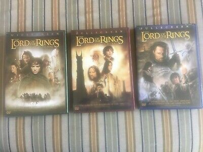Lord of the Rings DVDs - All 3 movies