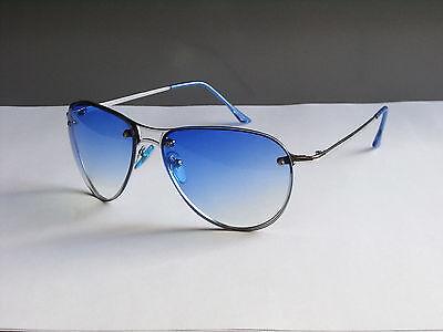 Style Moderne Damen Herren Sonnenbrille Sunglasses Pilotenbrille Modell 178 Blau