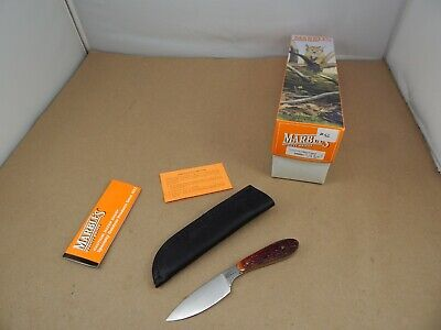MARBLES Gladstone USA 2000 Red Bone CUSTOM CAPER Hunting Knife Mint in Box