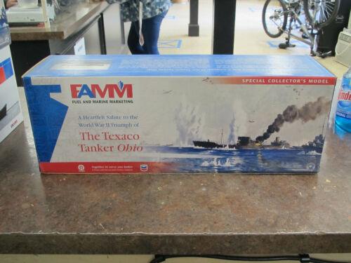 FAMM Fuel Marine Marketing Texaco Tanker Ohio w Display Base  NEW IN BOX