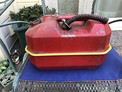 Vintage Blitz Usmc 2.5 Gallon Metal Gas Can W Pour Spout 1985