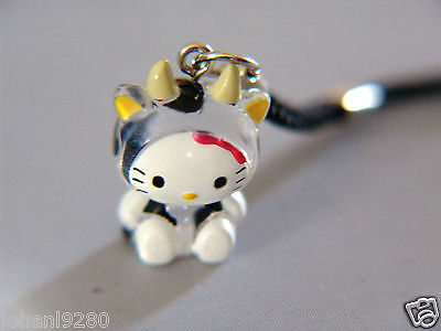 Hello Kitty duiveltje, hanger voor gsm, ipod,mp, pennenzak, ... 23,5 x 16,5 mm