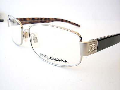New Dolce and Gabbana Eyeglasses D&G 1129 Silver 109 Authentic (D And G Eyeglasses)