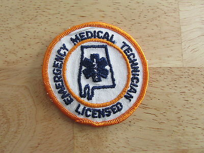 PATCH ALABAMA LICENSED EMERGENCY MEDICAL TECHNICIAN FIRE POLICE