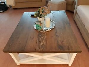 Custom Farmhouse Coffee tables, dining tables and more!