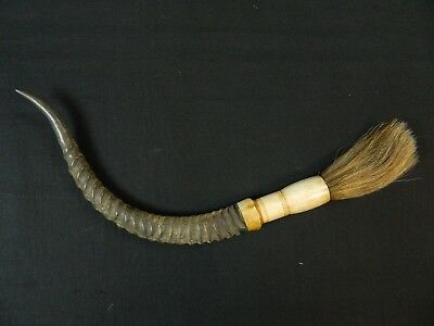 Antique Chinese Horn Calligraphy Brush
