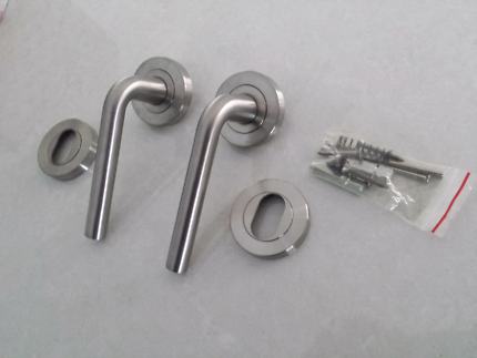 New Commercial Grade handles and escutcheon cylinder covers