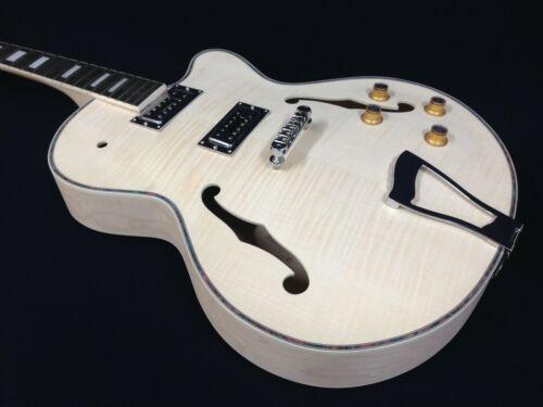 E-273DIY Complete NO-SOLDER,Hollow Body Electric Guitar DIY Kit+Free Tuner,Picks