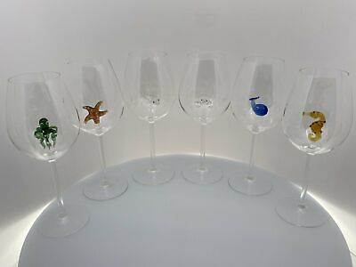 The Shark Wine Glass™ Ocean Collection Crystal - Includes all 6