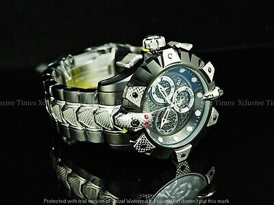 INVICTA Reserve Men 52mm KING VIPER VENOM Swiss Z60 Chrono Black 2Tone SS Watch